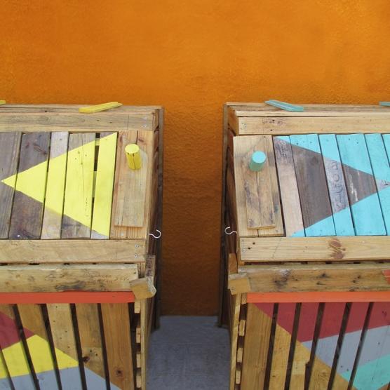 composteras - we diseñamos - art intallation - Madrid huerto urbano la ventilla 0