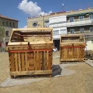 composteras - we diseñamos - art intallation - Madrid huerto urbano la ventilla 03