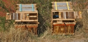 composteras - we diseñamos - art intallation - Madrid huerto urbano la ventilla 04