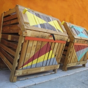 composteras - composteras - we diseñamos - art intallation - Madrid huerto urbano la ventilla 06