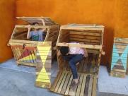 composteras - we diseñamos - art intallation - Madrid huerto urbano la ventilla 07